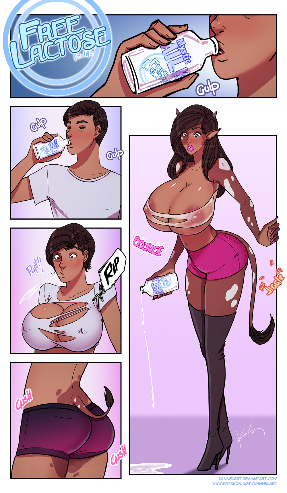 cartoon male to female transformations Boku no kanojo wa gatenkei