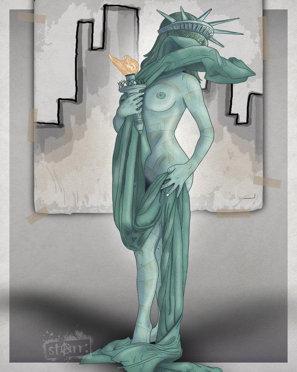 liberty statue of Adam ruins everything magic school bus