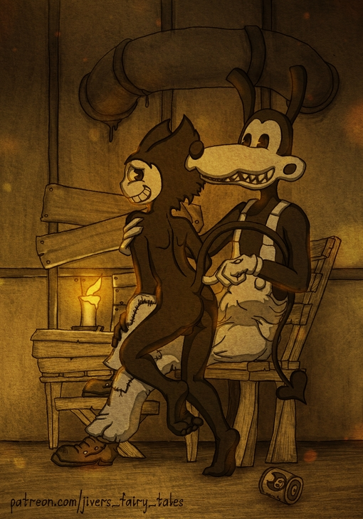 machine and bendy the pictures ink Panty and stocking with garterbelt kneesocks
