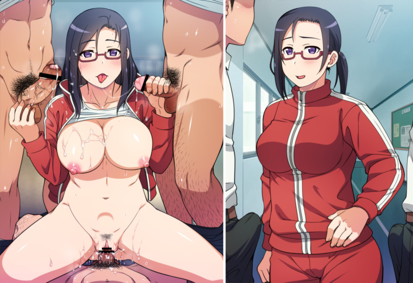 kataritai wa ajin-chan Nude woman tattoo piercing glasses
