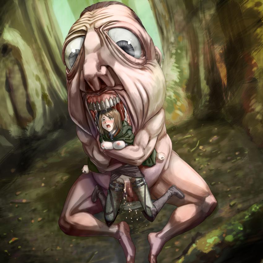 titan attack porn female titan on Tsuujou kougeki ga zentai kougeki de