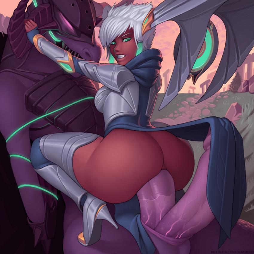 league tristana legends dragon of trainer Miss kobayashi's dragon maid quetzalcoatl gif