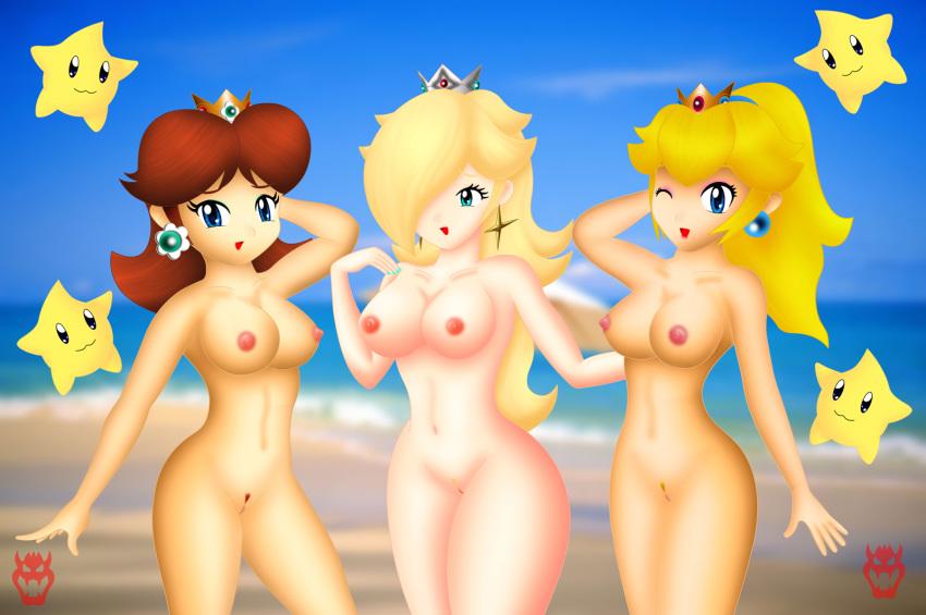 peach princess rosalina and daisy Dakara-boku-wa-h-ga-dekinai