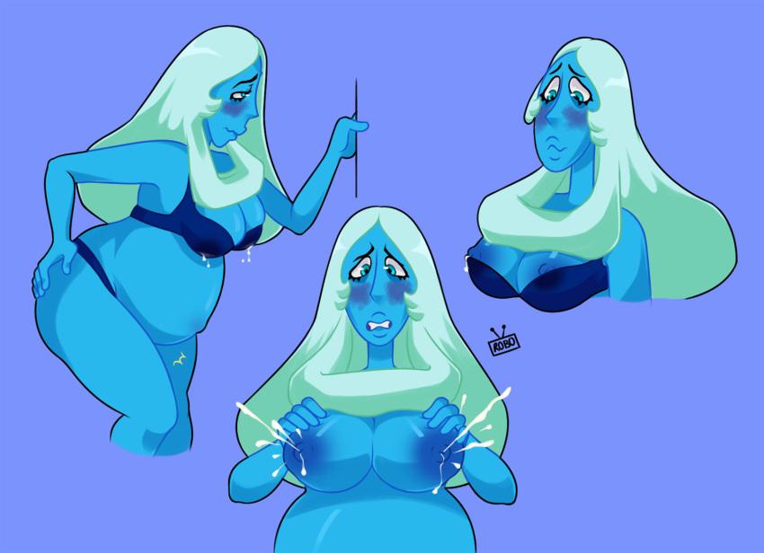 diamond steven universe blue from Lumpy space princess and brad